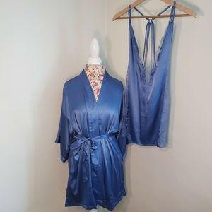 Victoria's Secret Blue Babydoll Lace Sides Medium
